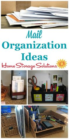 Mail Organization Hall Of Fame: How To Deal With Daily Mail. Clutter  OrganizationHome Organization HacksHome Office OrganizationClutter  SolutionsHome ...
