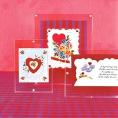 ❤️ Heartwarming Keepsakes ❤️ | display past Valentines in clear frames