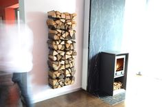 wall mounted log holder by Radius design