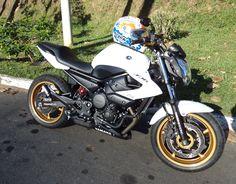 #Yamaha #XJ6 - #2013 #white #and #gold