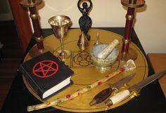Altars:  Wiccan Altar.