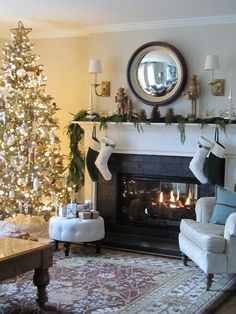 Merry Christmas From My House To Yours! Christmas Mantels, Christmas Love, All Things Christmas, Christmas Holidays, Merry Christmas, Christmas Decorations, Christmas Fireplace, Victorian Christmas, Christmas Morning