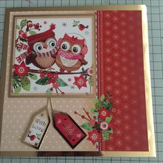 A 7x7 card using Hunkydory products