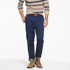 Flannel-lined chino in regular fit/ I NEED BOTH COLORS