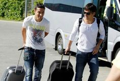 Already teammates!! Jesus Navas & David Silva, Manchester City.