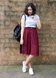 47 Beautiful Casual Dress Ideas for Women - Women's Outfits and Style - Casual Skirt Outfits, Modest Outfits, Modest Fashion, Stylish Outfits, Girl Fashion, Fashion Outfits, Womens Fashion, Casual Skirts, Casual Clothes