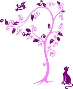 Wish I Could Fly Cat and Bird Vinyl Wall Decal by route3studios, $35.00