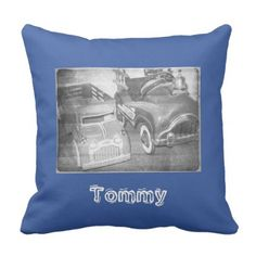 Vintage Toy Trucks Custom Firetruck Outdoor Pillow - home gifts ideas decor special unique custom individual customized individualized