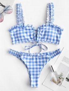 Wired Bikini, Push Up Bikini, Bikini Set, Swimwear Fashion, Bikini Swimwear, Swimsuits, Salopette Short, Daisy, Plaid Decor