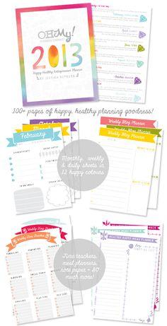 Oh My! Handmade 2013 Happy Healthy Entrepreneur Planner