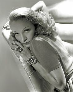 "Marlene Dietrich in a vintage Hurrell photograph. From the book ""George Hurrell's Hollywood."""