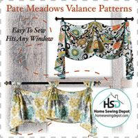 Looking for an easy to sew project? This Pate Meadows Valance Pattern is the perfect DIY sewing project. Click through to get the pattern now! Easy Sewing Projects, Sewing Hacks, Sewing Crafts, Valance Patterns, Sewing Patterns, Valance Ideas, Vintage Modern, Sewing Caddy, Fabric Pen
