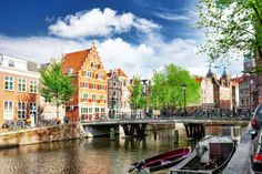 Canals in the Downtown Amsterdam jigsaw puzzle in Bridges puzzles on TheJigsawPuzzles.com
