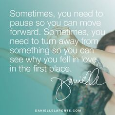 Sometimes you need to pause