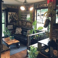 journal standard Furniture Coffee Shop Design, Cafe Design, House Design, Industrial Interior Design, Rustic Industrial, Room Inspiration, Interior Inspiration, Studio Interior, Piece A Vivre