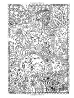Amazon Creative Haven Insanely Intricate Entangled Landscapes Coloring Book Adult