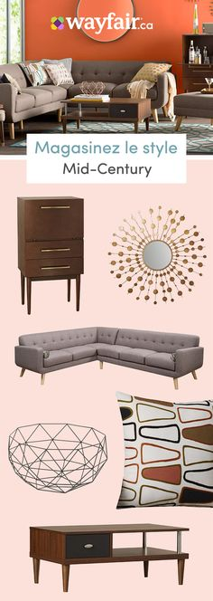 Want home decor inspiration you can add to cart? Explore tons of fully furnished styles at Wayfair, from mid-century furniture to modern accents, eclectic wall art to traditional lighting, and more! Visit Wayfair to upgrade your home design, and stay on b Ikea Vintage, Baskets Vintage, Shabby Vintage, French Vintage, Mid Century Modern Decor, Midcentury Modern, Charles & Ray Eames, Retro Home Decor, Trendy Home