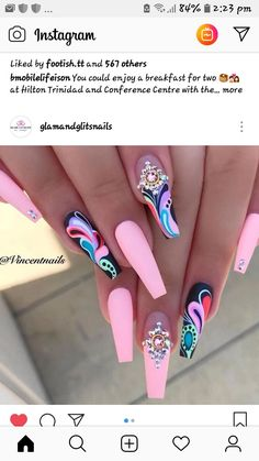 Discover cute and easy nail art designs for all occasions. Find inspiration for Easter, Halloween and Christmas and create your next nail art design. Nail Swag, Fancy Nails, Pretty Nails, Fancy Nail Art, Dope Nails, My Nails, Nail Art Designs, Nails Design, Best Acrylic Nails