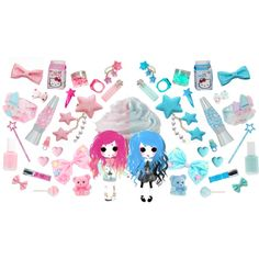 """Pink VS Blue"" by kawaii-star on Polyvore"
