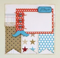8x8 Layout 1mm Hemp Twine Scrapbook Layouts Sketches My