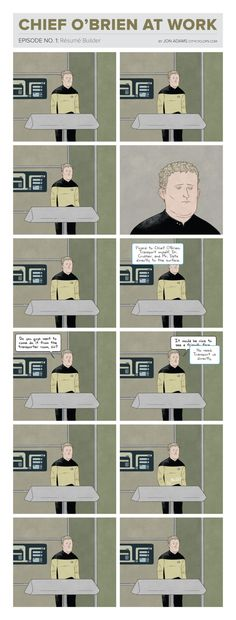 Chief O'Brien at work. awesome comics!!!
