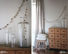 e-magDECO: « Bord de Scène »  love this petite banner and the way it ends in the jar!