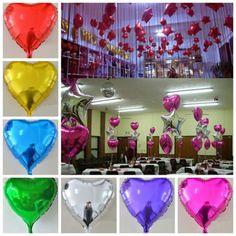 18 inch love balloon aluminum balloon ball wedding festivals arranged on the decorative layout of the aluminum foil balloon
