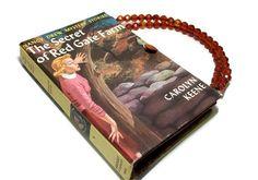 Nancy Drew Book  Purse  Book Handbag  Red Gate by retrograndma, $39.99