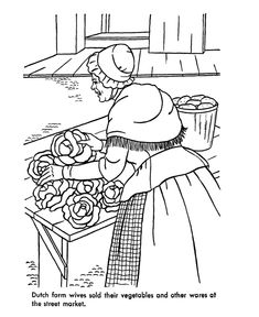Early American Home Life Coloring Page Felicity Colonial