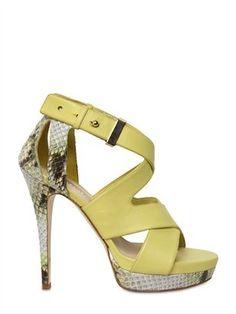 ShopStyle: Burak Uyan - 130mm Python & Leather Sandals
