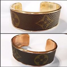 Louis Vuitton Bracelet Cuff made with Authentic Upcycled Canvas in Gold or  Rosegold b8951e1feb682