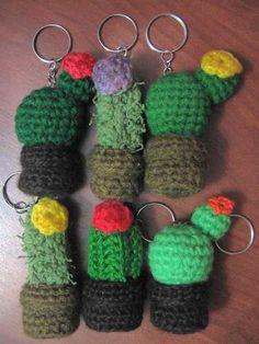 Llaveros Tejidos De Cupcakes O Cactus