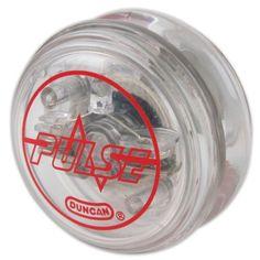 Duncan Pulse Yo Yo Made of Durable Plastic Light Up Technology Ball-Bearing Axle For Long Spin Time http://amzn.com/B0016JG39Q?tag=thep0658-20
