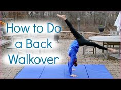 how to teach yourself how to do a back handspring