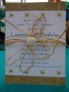 Beach themed party invitations :)