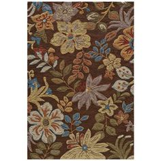 Momeni Summit SUM-4 Brown Area Rug - #V8227 | poly hooked
