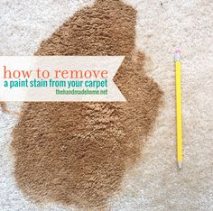 How to remove a paint stain from your carpet.