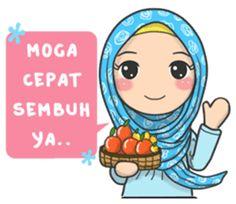 Trendy Flower Art For Kids Pictures Cute Love Cartoons, Cute Cartoon Girl, Funny Cartoons, Diy Projects Etsy, Islamic Cartoon, Hijab Cartoon, Islamic Girl, Geometric Poster, New Sticker