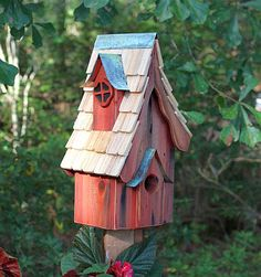 Boyds' Bungalow Bird House Redwood
