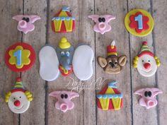 EDIBLE (Fondant Cupcake Toppers) - Vintage Dumbo Circus. $36.00, via Etsy.