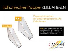 Schutzecken Pappe für Keilrahmen Tacker, Wedges, Canvas Frame, Packaging, Tips
