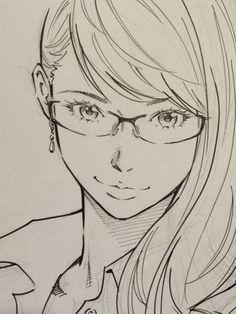 Twitter / EISAKUSAKU: ペン入れサラサラ。