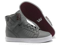 Justin Bieber Supra Shoes Grey White