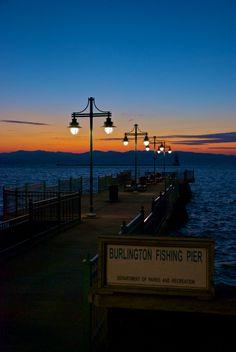 November Sunset On Lake Champlain, Burlington, Vermont, USA