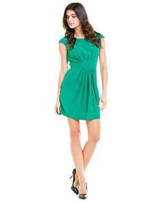 "Amanda Uprichard ""Stella"" Green Pleated Silk Dress"