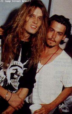 Sebastian Bach and Johnny Depp.