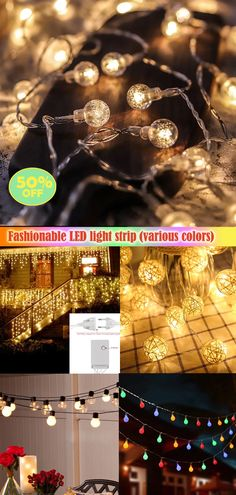 Multifunctional LED lights,birthday/party/Halloween/Christmas... all kinds of holiday parties can decorate the scene, highlight the atmosphere,convenient and fast professional design makes it safer to use,click to learn more now