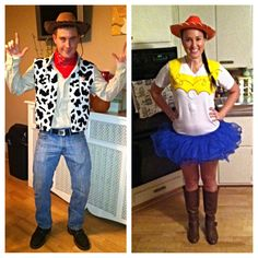 Went all out this year and made my own diy jessie the cowgirl homemade toy story costumes woody jessie solutioingenieria Images