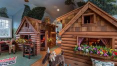 Hike Through This Wildly Extravagant Log Cabin Playroom