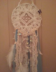 lacy dream catcher by ninasoriginals on Etsy